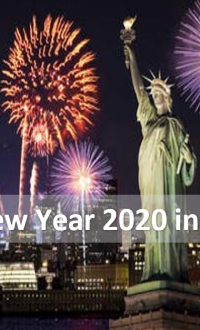 Happy New Year 2020 in New York