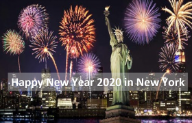Happy New Year 2021 in New York