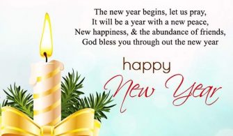 Happy New Year greetings card message 2020