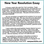 Learn How to Write a New Year Resolution Essay