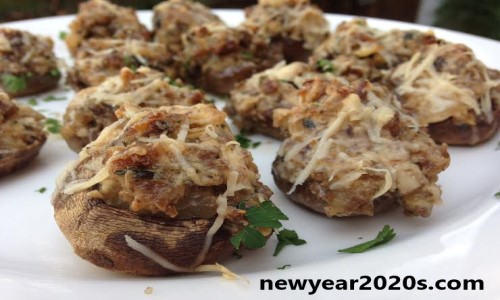 New Year Stuffed Mushrooms