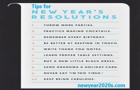 New Year Tips