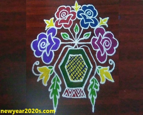 new year kolam 2020