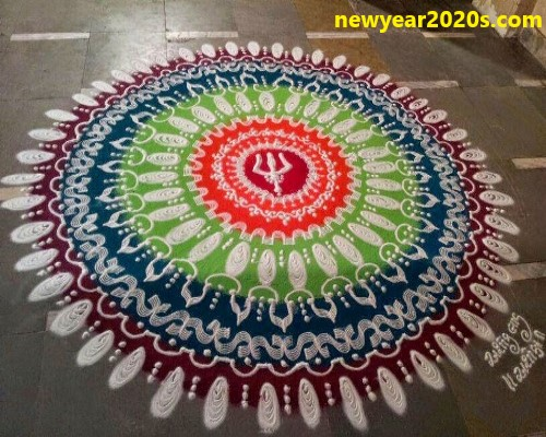 rangoli kolam for new year