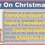 Christmas Essay 2020 PDF Topics | Introduction | My Favourite Holiday is Christmas Essay