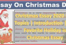Photo of Christmas Essay 2020 PDF Topics | Introduction | My Favourite Holiday is Christmas Essay