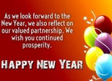 best happy new year wishes for business partner