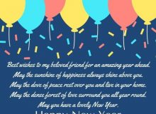 best new year wishes greeting for friends