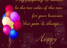 happy new year greeting for business partner