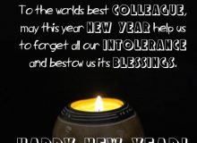 happy new year greeting message for collegues