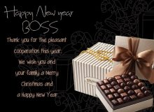 happy new year greeting quote for boss