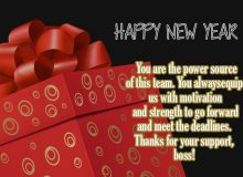 happy new year wishes and message for boss