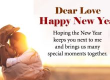 happy new year wishes for dear love