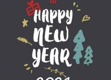 happy new year wishes status simple