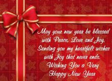 new year greeting wishes for boss
