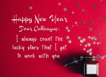 new year wishes cute quote for collegues