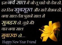 new year wishes for friends in hindi