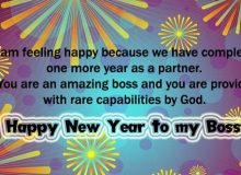 new year wishes message for boss