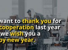 new year wishes quote for business partner