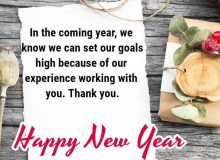 professional new year wishes for business partners