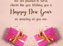 simple new year greetings for clients